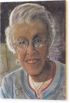 Jim's Mom Lois  Wood Print