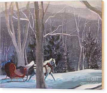 Jingle Bells 3 Wood Print by Gretchen Allen