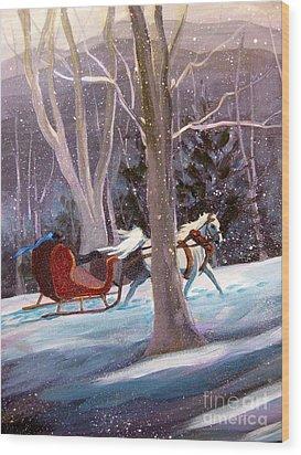 Jingle Bells A Wood Print by Gretchen Allen