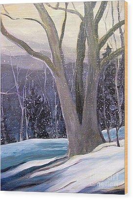 Jingle Bells C Wood Print by Gretchen Allen