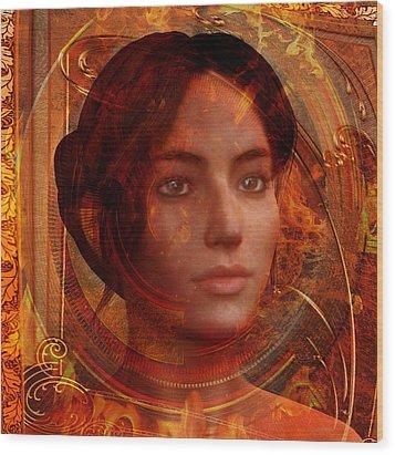 Joan Of Arc Holy Fire Wood Print