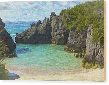 Wood Print featuring the photograph Jobson Cove Beach by Verena Matthew
