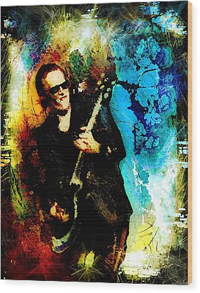 Joe Bonamassa Madness Wood Print