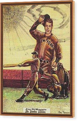 Joe Dimaggio Yankee Clipper Wood Print