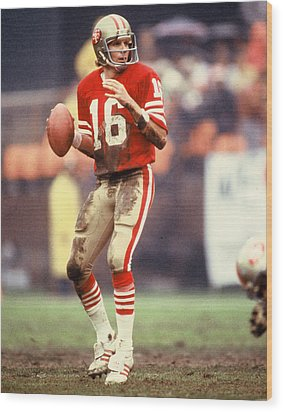 Joe Montana Wood Print by Retro Images Archive