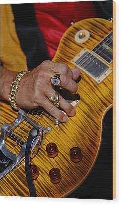 Joe Perry - Aerosmith Wood Print by Don Olea