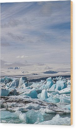 Joekulsarlon Glacial Lagoon Wood Print by For Ninety One Days
