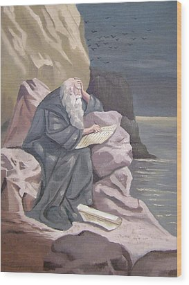 John At Patmos Wood Print by Tanya Provines