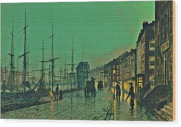 John Atkinson Grimshaw Shipping On The Clyde 1881 Wood Print