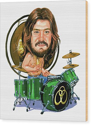John Bonham Wood Print by Art