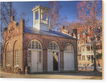 John Browns Fort - Harpers Ferry West Virginia - Modern Day Autumn Wood Print by Michael Mazaika