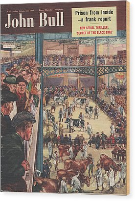 John Bull 1950 1950s Uk Smithfield Wood Print by The Advertising Archives
