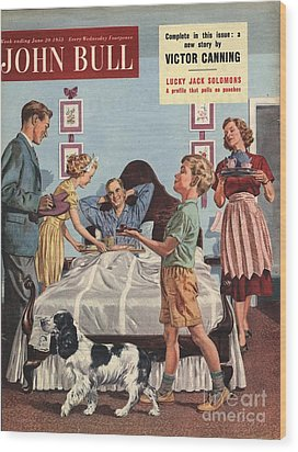 John Bull 1950s Uk Father�s Day Wood Print by The Advertising Archives