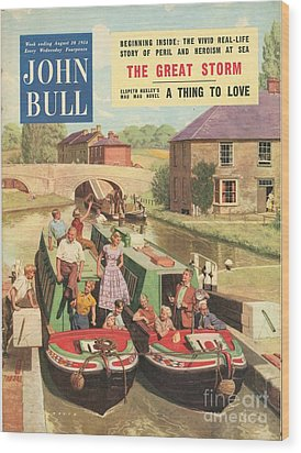 John Bull 1950s Uk Holidays Narrow Wood Print by The Advertising Archives