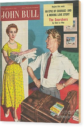 John Bull 1950s Uk Holidays Packing Wood Print by The Advertising Archives
