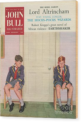 John Bull 1950s Uk Schools Magazines Wood Print by The Advertising Archives