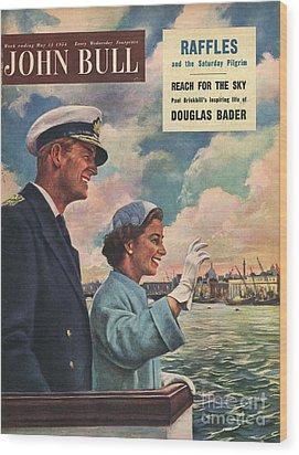 John Bull 1954 1950s Uk Queen Elizabeth Wood Print by The Advertising Archives