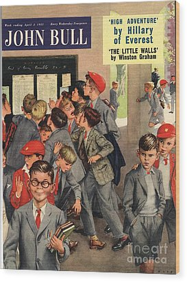 John Bull 1955 1950s Uk Schools Swots Wood Print by The Advertising Archives