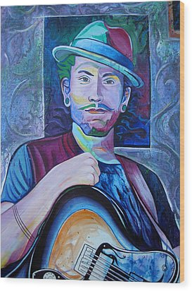 Wood Print featuring the painting John Butler by Joshua Morton