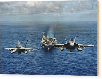 John C. Stennis Carrier Strike Group Wood Print by Mountain Dreams