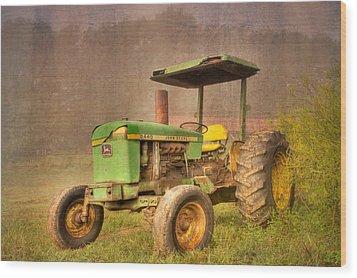 John Deere 2440 Wood Print by Debra and Dave Vanderlaan