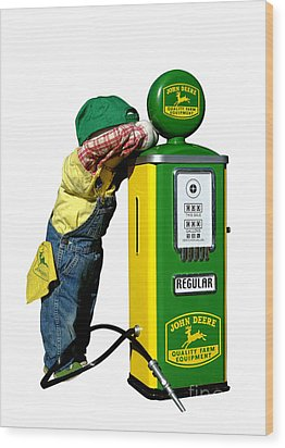 John Deere Kid Wood Print