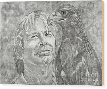 John Denver And Friend Wood Print