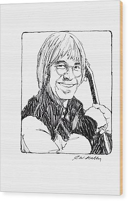 John Denver Wood Print by J W Kelly