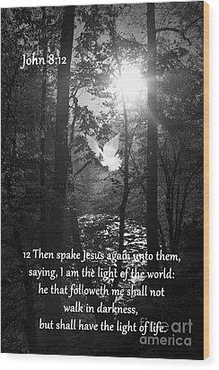 John Eight Twelve Wood Print