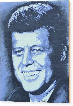 John F. Kennedy Wood Print by Victor Minca