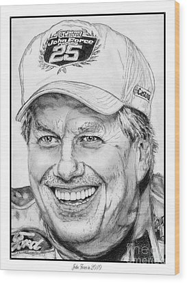 John Force In 2010 Wood Print by J McCombie