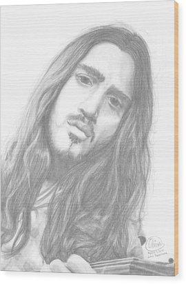 John Frusciante Wood Print by Olivia Schiermeyer