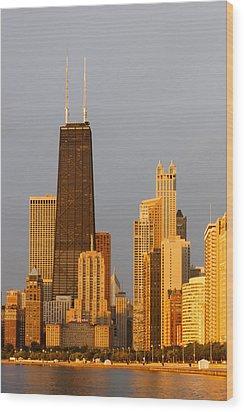 John Hancock Center Chicago Wood Print by Adam Romanowicz