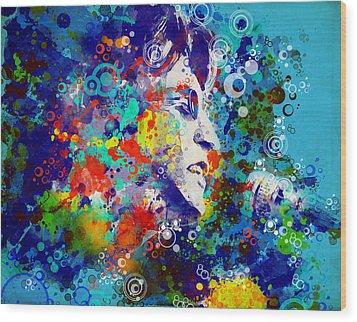 John Lennon 3 Wood Print by Bekim Art