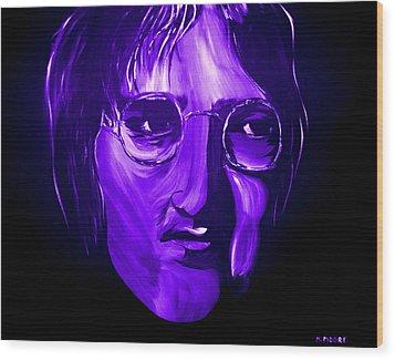 John Lennon 5 Wood Print by Mark Moore
