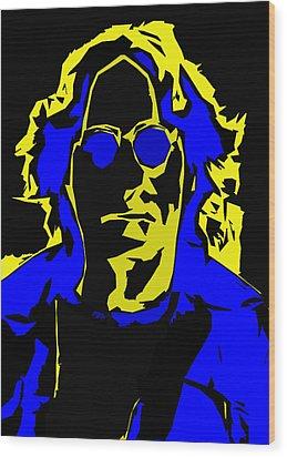 John Lennon Abstract  Wood Print by Steve K