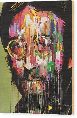 John Lennon Wood Print by Bruce McLachlan