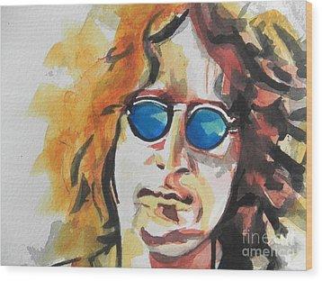 John Lennon 03 Wood Print