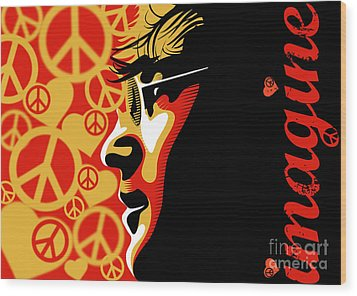 John Lennon Imagine Wood Print by Sassan Filsoof