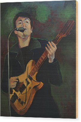 John Lennon In Performance Wood Print