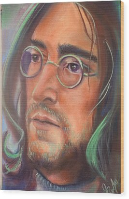 John Lennon Wood Print by Mark Anthony