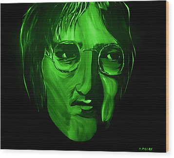 John Lennon Wood Print by Mark Moore