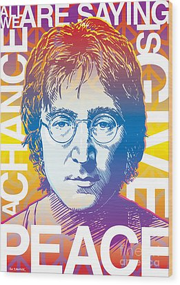 John Lennon Pop Art Wood Print