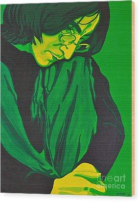 John Lennon Wood Print by Rebecca Mott