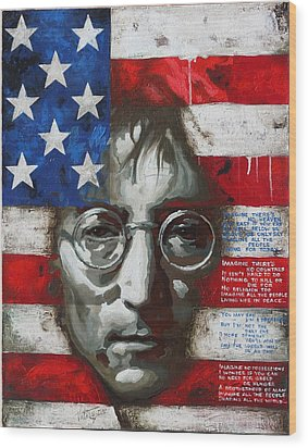 John Lennon -the Man Of Peace Wood Print by Vitaliy Shcherbak