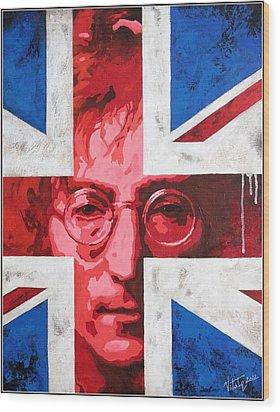 John Lennon -the Man Of Peace.the Number One Wood Print by Vitaliy Shcherbak