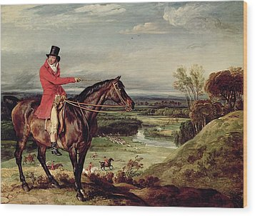 John Levett Hunting In The Park At Wychnor Wood Print by James Ward