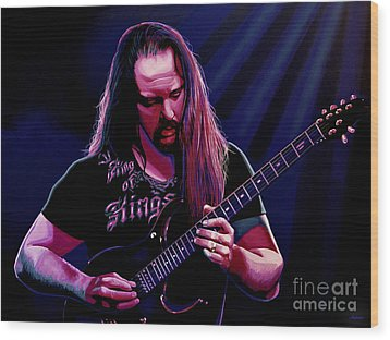John Petrucci Painting Wood Print by Paul Meijering