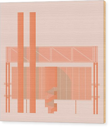 John Player Factory Wood Print by Peter Cassidy