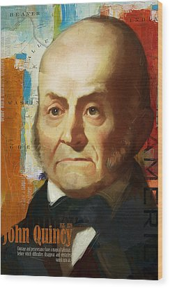 John Quincy Adams Wood Print by Corporate Art Task Force